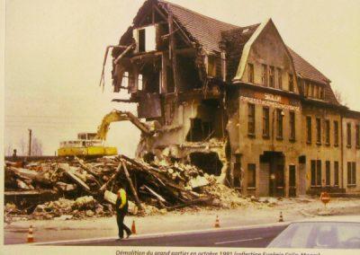 199110 Démolition du grand portier à Hagondange