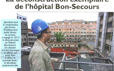 Curage partiel et désamiantage des bâtiments – Metz Hôpital Bon Secours