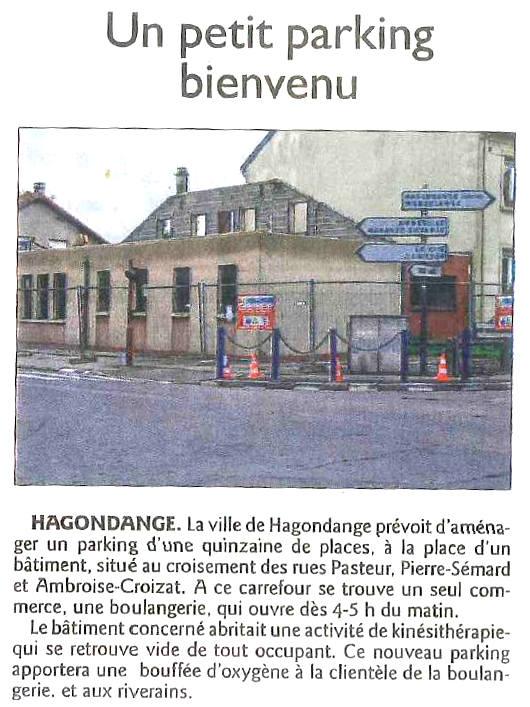 Travaux de désamiantage et de démolition d'un ancien cabinet médical à Hagondange