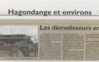 Technilor Hagondange : Les démolisseurs en action