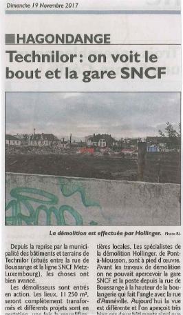 Travaux de désamiantage et déconstruction de bâtiments à HAGONDANGE
