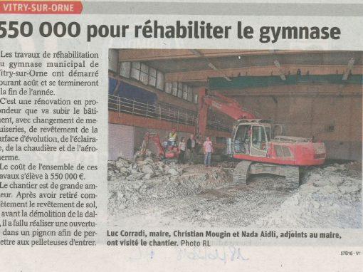 Réhabilitation intérieure du gymnase Rue de Thionville À VITRY SUR ORNE (57185)