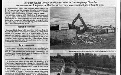 Ancien garage Chevalier: le chantier démarre