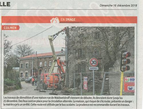 Travaux démolition Colmen
