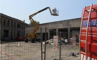 Travaux de démolition des bâtiments de l'ancien Centre Technique Municipal de Pont-à-Mousson